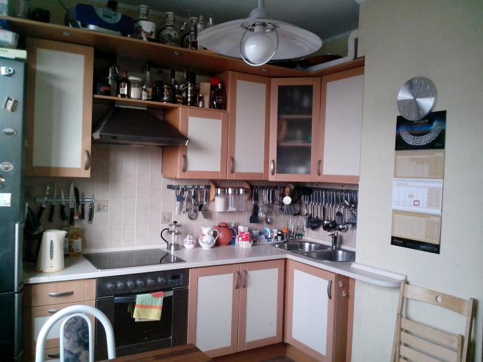 Дизайн кухни в доме п-3